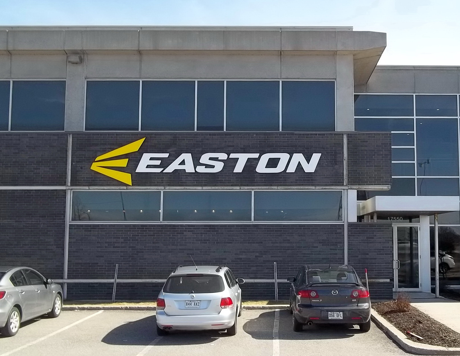 Easton sports sign